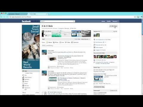 How to change the default landing tab for a Facebook page.