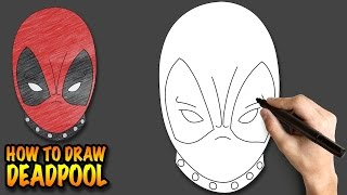 How To Draw Deadpool Easy Step By Step Drawing Lessons For Kids