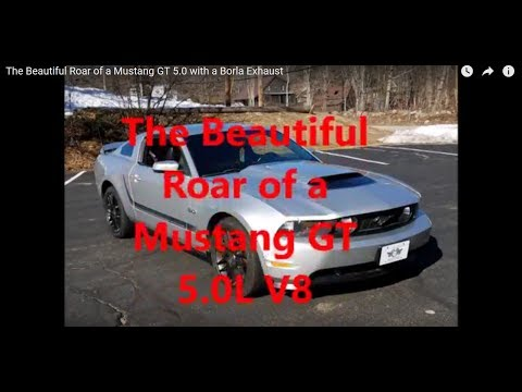The Beautiful Roar of a Mustang GT 5.0 with a Borla Exhaust