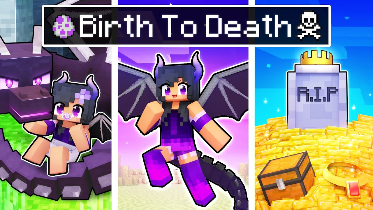 The BIRTH To DEATH of a Dragon In Minecraft!
