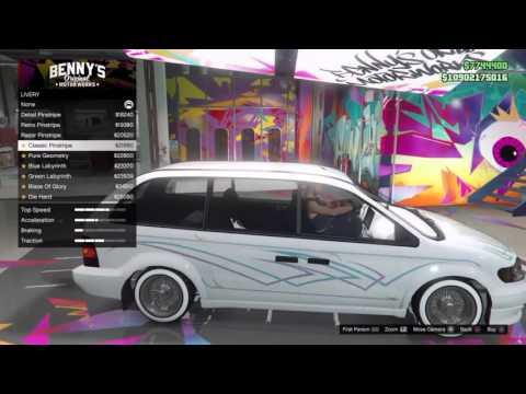 GTA5*Customizing New MiniVan Fully Maxed Out