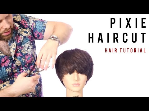 Haircut Tutorial - Bob to Pixie Haircut Tutorial - TheSalonGuy