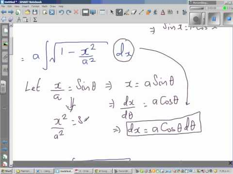 Integration of square root of (a^2- x^2)dx