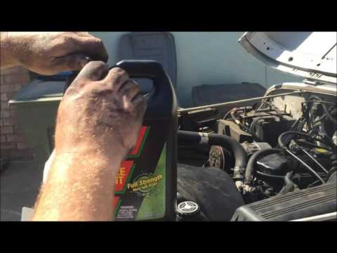 Radiator coolant  Change out 95 Jeep Wrangler