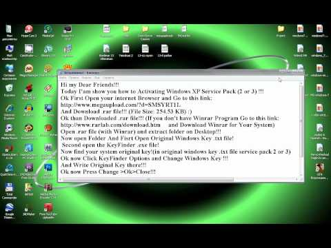 How to Activate Windows XP Service Pack(2 or 3)