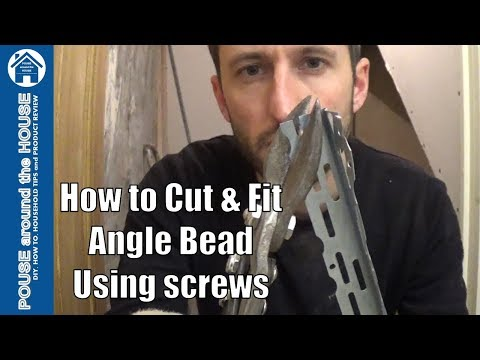 How to install drywall corner bead/angle bead, plaster corner bead/angle bead.