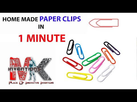paper clips with binding wire home made