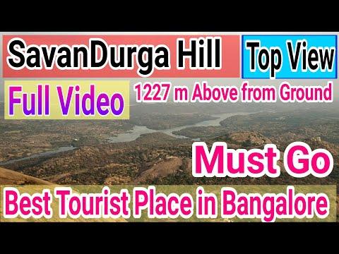 Savandurga Hill Full Top View   Best Tourist Place in Bangalore   Savandurga Hill Scene from top  