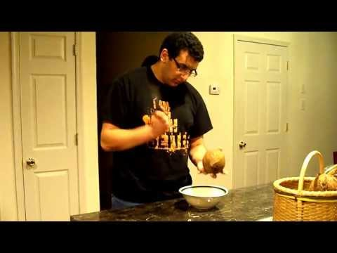 How to open a coconut, the dumb way HD
