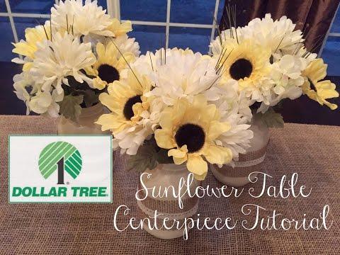 DOLLAR TREE DIY | Sunflower Table Centerpiece