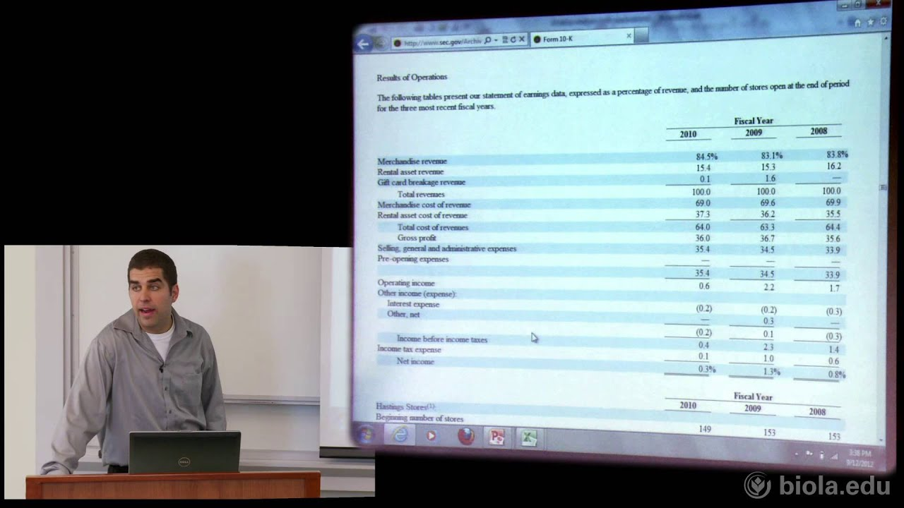 James Webb: How to Read a Financial Statement [Crowell School of Business]