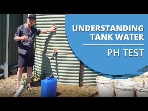 Understanding the Rain Water that comes out of your Rain Water Tank - pH Test Demonstration