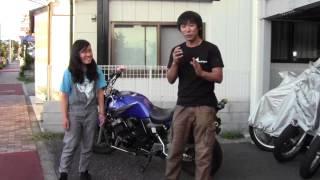 だ、大丈夫か?身長147cmの少女が初めてバイクの引き起こしに挑戦!