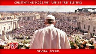 "Pope Francis Christmas Messagge and"" Urbi et Orbi"" Blessing 2017-12-25"