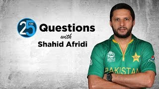 25 Questions with Shahid Afridi: 'If you want to sleep on a flight, don't sit next to Misbah'