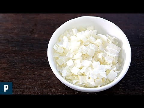 ねぎの基本の切り方 正方形 How to cut Green Onion/ Square cutting