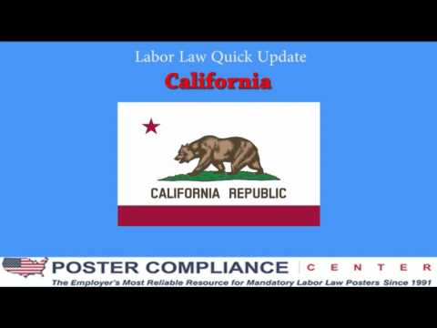 California Labor Law Poster Update