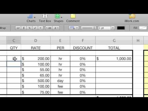 Create a Line Item Budget in iWork '09