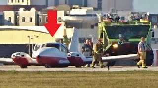 EMERGENCY GEAR UP LANDING with ATC - Daytona Beach Int