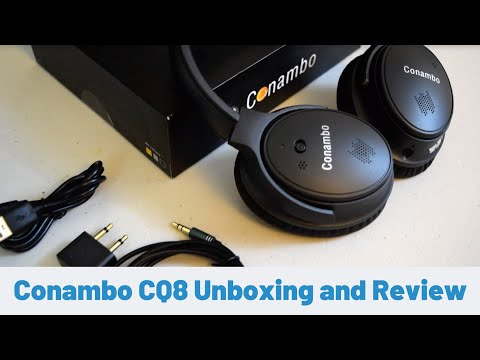 Conambo QC8 Bluetooth Noise Canceling Headphone Unboxing and Review
