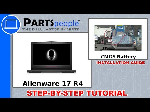 Dell Alienware 17 R4 (P12S001) CMOS Battery How-To Video Tutorial