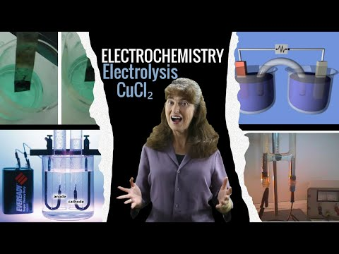 Electrolysis of copper chloride