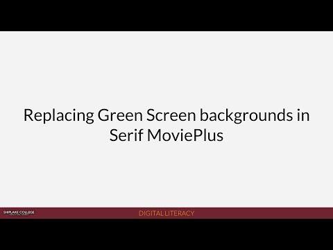 Shiplake News (2018): Replacing Green Screen backgrounds in Serif MoviePlus