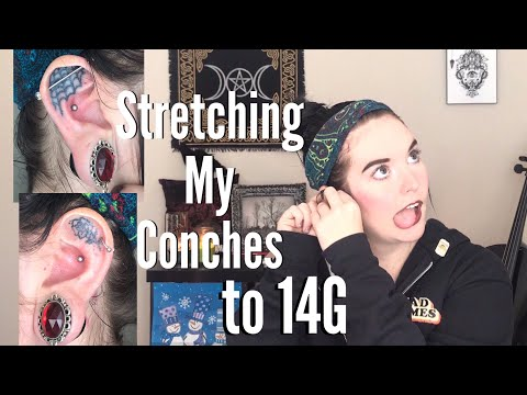 Stretching My Conch Piercings to 14G