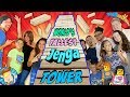 WORLDS LARGEST JENGA TOWER FALLS DOWN 9 Ft Tall Giant Jumbo Blocks W FUNnel Vision Friends