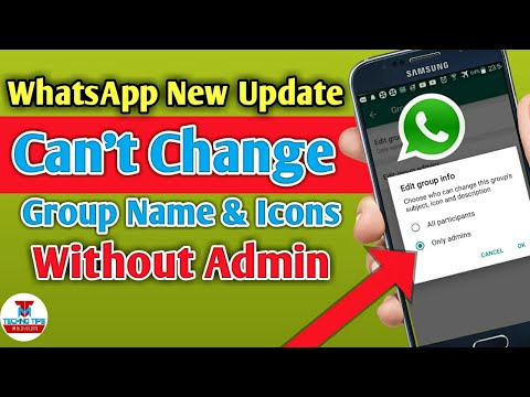 Whatsapp Latest Update | Can't Change Group Name & Icons Without Permission of Admin - Group Setting