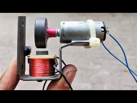 Free energy electricity generator using DC motor with LED