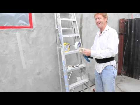 Fiber Mesh tape before a color coat application