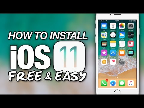 HOW To Install iOS 11 FREE & EASY On iPhone - iPad - iPod Touch