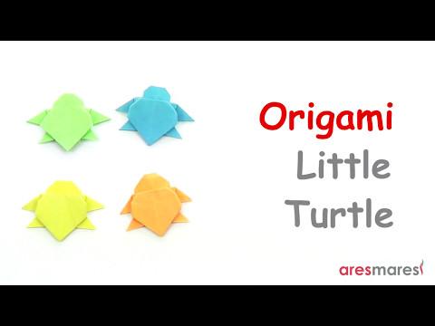 Origami Little Turtle (easy - single sheet)