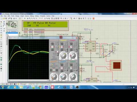 PID control of DC motor with PIC16F887