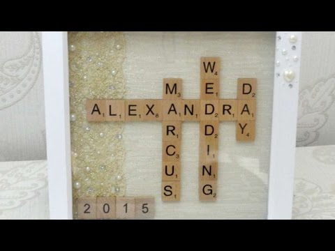 How To Make A Unique Wedding Gift - Scrabble Art - DIY Crafts Tutorial - Guidecentral