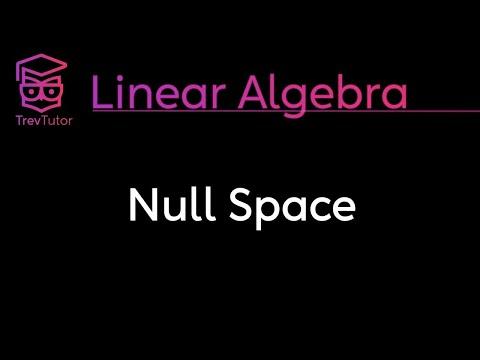 [Linear Algebra] Null Space