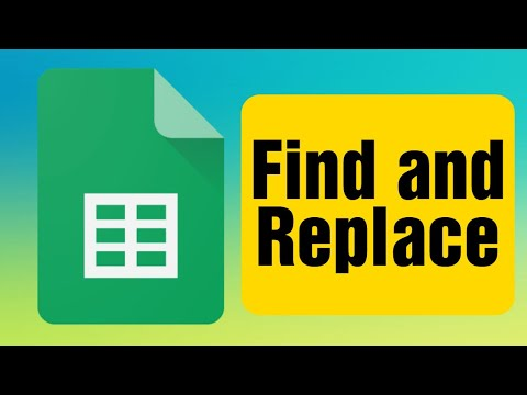 Find and Replace in a Google Spreadsheet