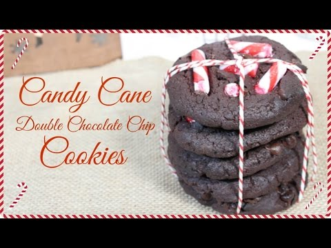 Candy Cane Double Chocolate Chip Cookies   YUMMY VEGAN
