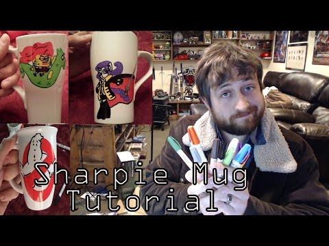 Nerd Immersion - Sharpie Mug Tutorial! (Making Custom Coffee Mugs)