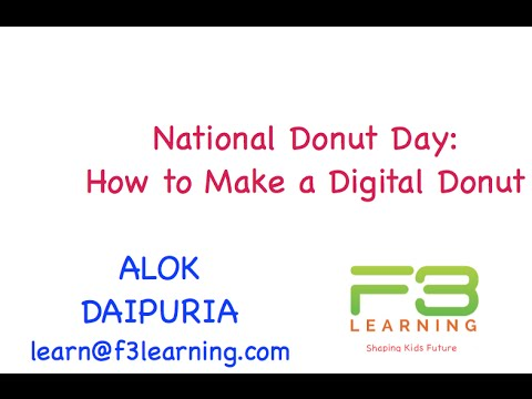National Donut Day - How to Make A Digital Donut