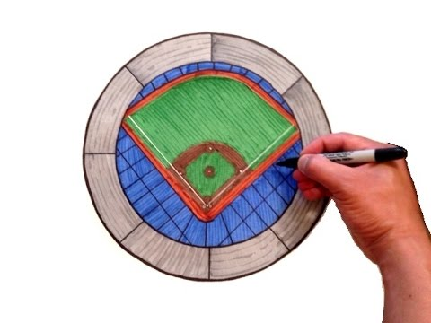 How to Draw a Baseball Stadium