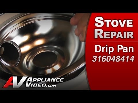 Drip Pan - Stove / Oven or Range Repair (Electrolux # 316048414 Replacement Part)