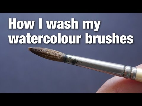 How I Wash My Watercolor Brushes (re-upload)