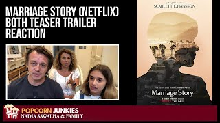Marriage Story (Netflix) Both TEASER TRAILERS - The Popcorn Junkies Reaction