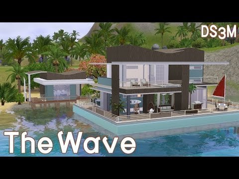 The Sims 3 House Boat Building - The Wave - Speed Build