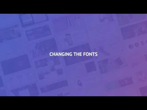2.2 Changing the Fonts