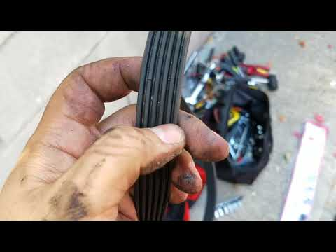 How to remove power steering belt and serpentine belt on Acura Tl