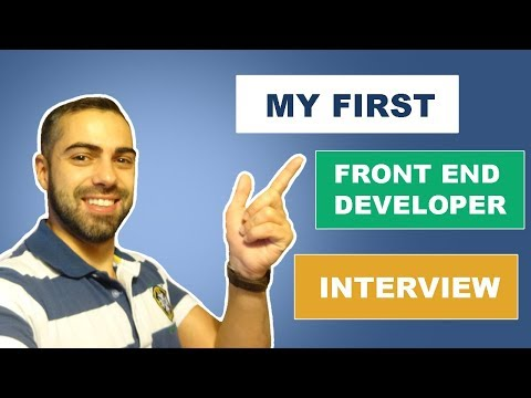My first Front End Web Developer Interview