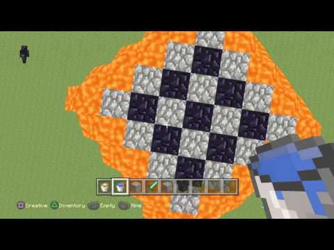 Minecraft cool way to build towers with just lava and water buckets!